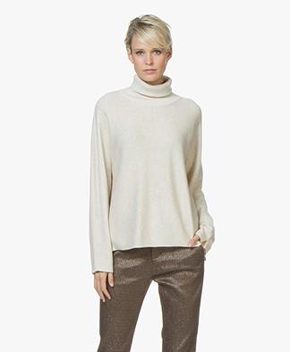 Josephine & Co Jaco Cotton Blend Turtleneck Pullover - Stone