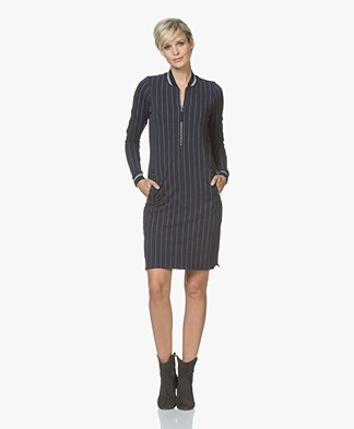 Josephine & Co Jeske Striped Jersey Dress - Navy