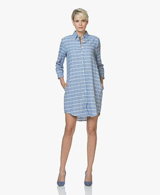 Josephine & Co Justin Flanellen Tunic Dress - Check Light Jeans
