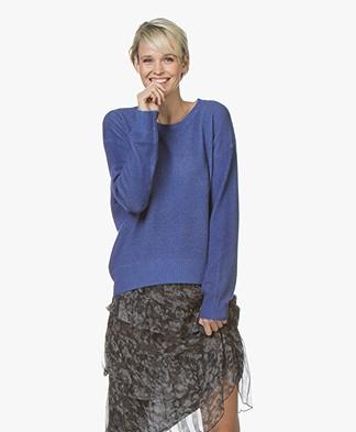 Majestic Cashmere Garment-Dye Trui - Encre