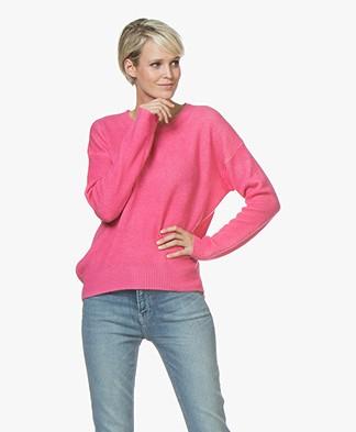 Majestic Filatures Cashmere Garment-Dye Trui - New Pink