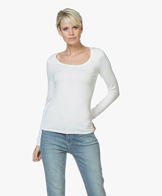 no man's land Basic Viscose Longsleeve - Ivory