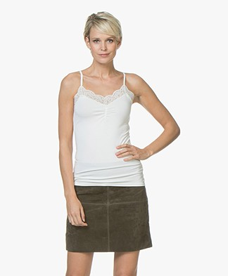 no man's land Lace Camisole - Ivory