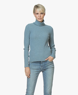 Repeat Pure Cashmere Rib Coltrui - Smoke