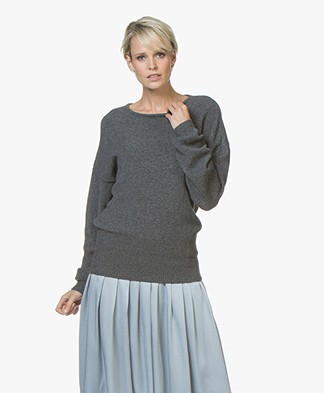 Sibin/Linnebjerg Agnes Sweater with Cashmere - Light Anthracite