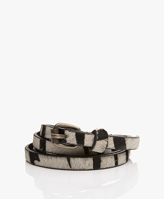 BY-BAR Animal Narrow Belt - Zebra