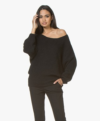 American Vintage Woxilen Oversized Sweater - Black