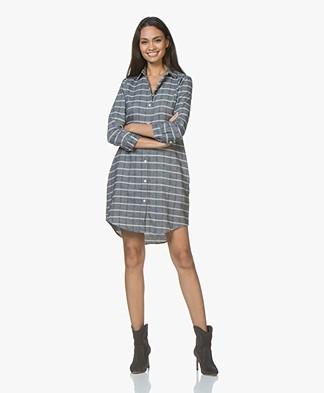 Josephine & Co Justin Flanellen Tunic Dress - Check Navy