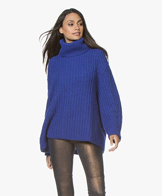 ba&sh Emera Oversized Turtleneck Sweater - Royal Blue
