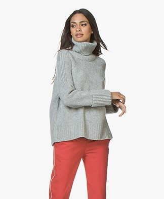 ba&sh Nagora Wool Blend Turtleneck - Light Grey