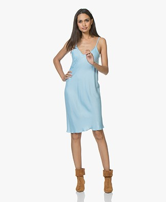 BRAEZ Dollen Viscose Slip Dress - Turqouise