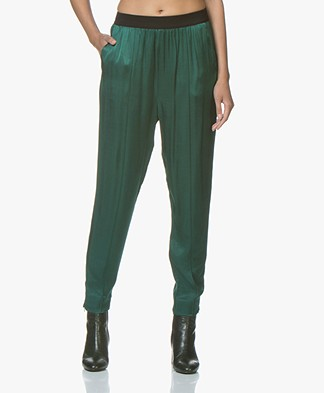 By Malene Birger Ietos Pants with Satin Front - Botanical Garden