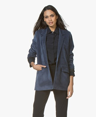 Closed Cox Velvet Oversized Blazer - Malibu