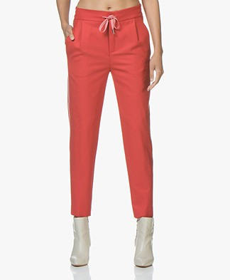 Drykorn Level Loose-fit Cropped Pants - Red