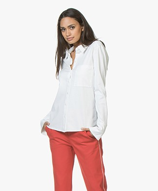 Drykorn Nurja Cotton Jersey Blouse - Off-white