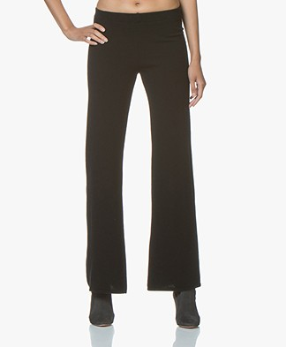 Fine Edge Bell Bottom Broek - Jet Black
