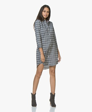 Josephine & Co Justin Flanellen Tunic Dress - Check Navy