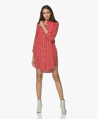 Josephine & Co Justin Flanellen Tunic Dress - Check Red