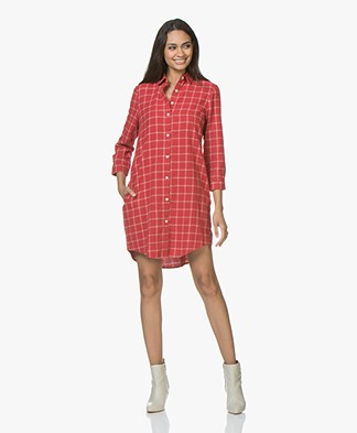 Josephine & Co Justin Flanellen Tunic Dress - Check Red