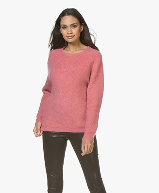Marie Sixtine Elora Mohair Blend Sweater - Rosewood
