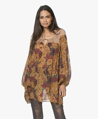 Mes Demoiselles Orel Silk Blouse - Multicolored