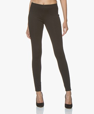 Repeat Viscose Blend Jersey Slim-fit Pants - Black