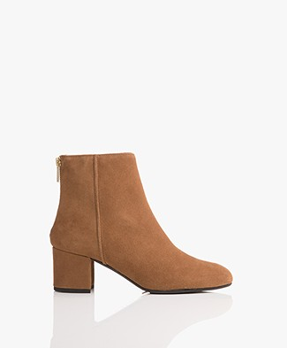 ATP Atelier Mei Zipper Ankle Boots - Cappuccino Suede