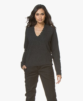 Zadig & Voltaire River Cashmere V-neck Sweater - Anthracite