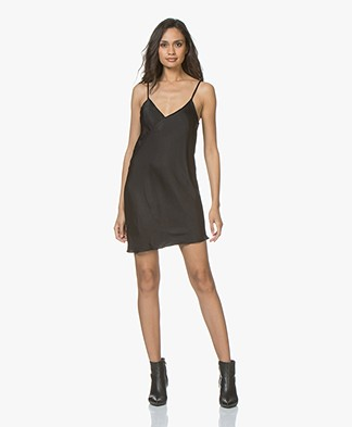 Braez Bree Viscose Asymmetric Dress - Black
