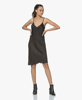 BRAEZ Dollen Viscose Slip Dress - Black