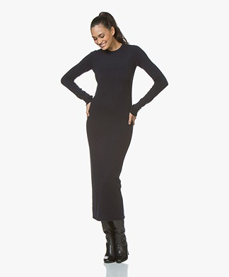 Extreme Cashmere N°76 Fabulous Maxi Dress - Navy Blue