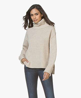 Filippa K Chunky Roller Neck Sweater - Sandstone