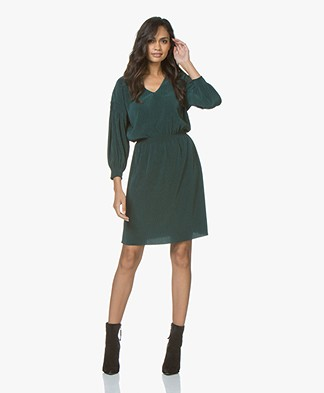 Filippa K Mini Plisse Jurk - Emerald