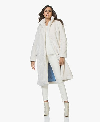 Josephine & Co Jidde Faux Fur Coat - Stone