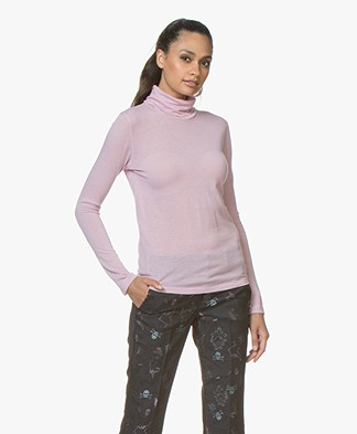 Majestic Filatures Eve Pure Cashmere Turtleneck T-shirt - Bruyère