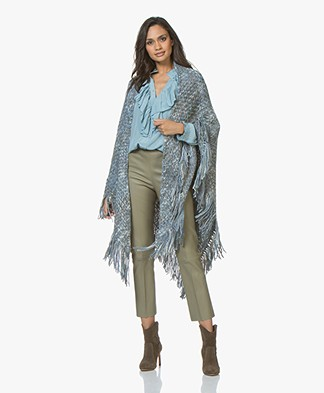Manos del Uruguay Cadaquez Triangle Scarf - Light Grey Melange