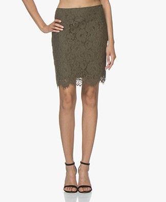 no man's land Scalloped Lace Skirt - Armour