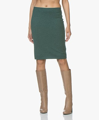 Repeat Cashmere Knitted Skirt - Forest