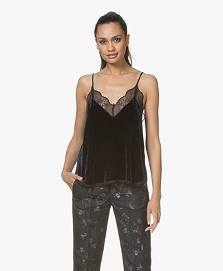 Zadig & Voltaire Christy Velours Camisole - Ink