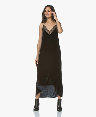 Zadig & Voltaire Long Dress in Velours - Ink