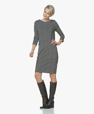 Kyra & Ko Paulien Lurex Jersey Dress - Grey