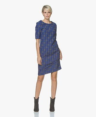 Kyra & Ko Laurien Double-face Jacquard Dress - Grey