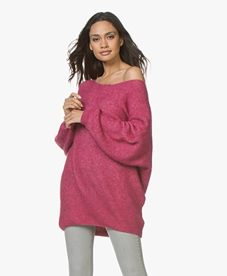 American Vintage Woxilen Oversized Sweater - Fuchsia Chine