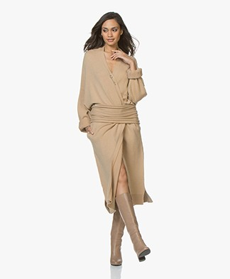 Extreme Cashmere N°61 Koto Maxi Length Cardigan - Camel