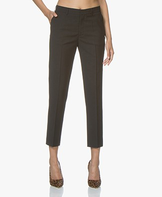 Filippa K Emma Cropped Cool Wool Pantalon - Zwart