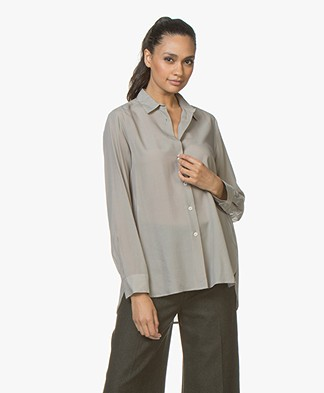 Filippa K High-Low Tencel Blouse - Oyster