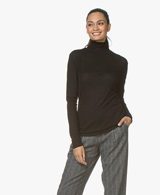 Filippa K Merino Wool Roller Neck Sweater - Black