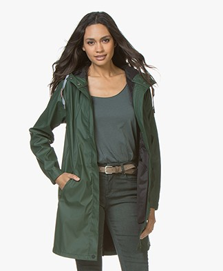 indi & cold Medium-length Raincoat - Khaki