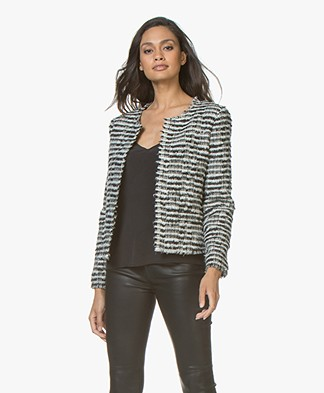 IRO Emotion Tweed Blazer Jacket - Black