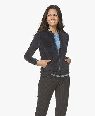 Josephine & Co Jane Fleece Jersey Jacket - Navy